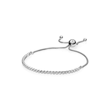 Pandora Silver Drop Crystal Bracelet   - Click to view larger image