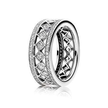 PANDORA Solitaire Shine Silver Ring