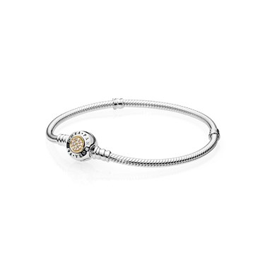 Pandora Signature Moments Two Tone Bracelet