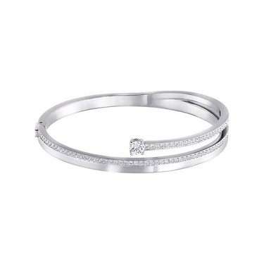 Swarovski Silver Fresh Bangle (M)  - Click to view larger image