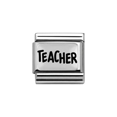 Nomination Silvershine Teacher Charm  - Click to view larger image