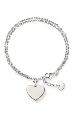 Thomas Sabo Silver Token of Love Bracelet  - Click to view larger image