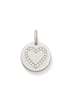 Thomas Sabo Heart Coin Pendant  - Click to view larger image