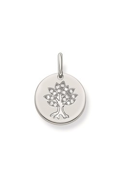 Thomas Sabo Silver Tree Coin Pendant  - Click to view larger image