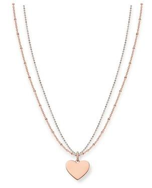 Thomas Sabo Rose Gold Token of Love Necklace  - Click to view larger image
