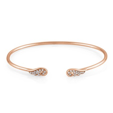 Nomination Angel Wings Rose Gold Open Bangle