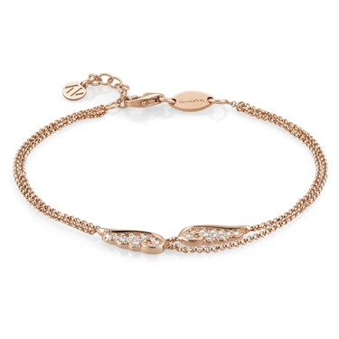 Nomination Angel Wings Rose Gold Double Chain Bracelet