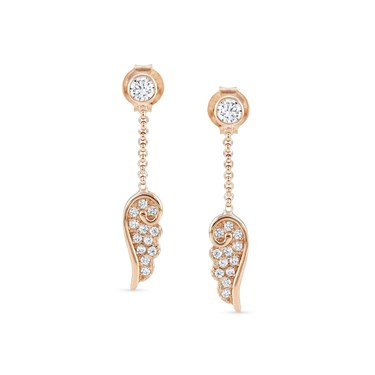 Nomination Angel Wings Rose Gold Drop Earrings