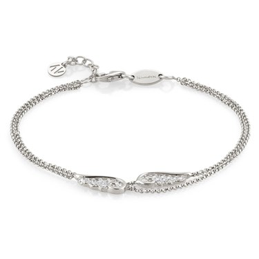 Nomination Angel Wings Silver Double Chain Bracelet