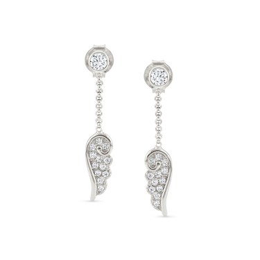 Nomination Angel Wings Silver Drop Earrings  - Click to view larger image