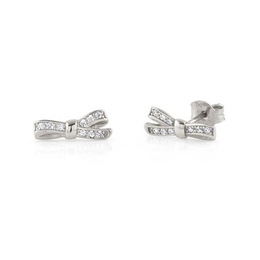 Nomination My Cherie Silver Bow Stud Earrings Click To View Larger Image