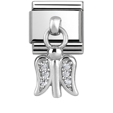 Nomination Silver Dangly Guardian Angel Charm  - Click to view larger image