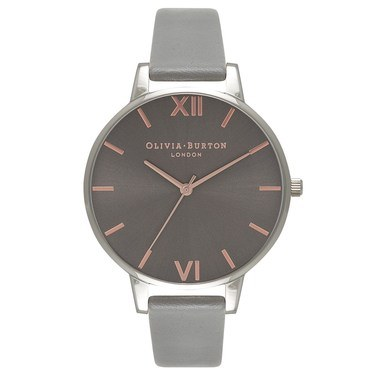 Olivia Burton Big Dial Grey & Silver Watch  - Click to view larger image