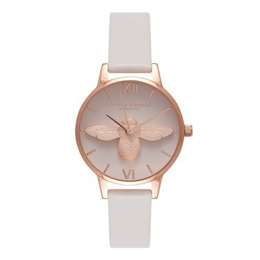 Olivia Burton 3D Bee Blush & Rose Gold Watch   - Click to view larger image