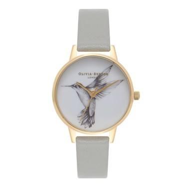 Olivia Burton Midi Dial Hummingbird Grey   Gold Watch - Agrandar imagen 364b381303
