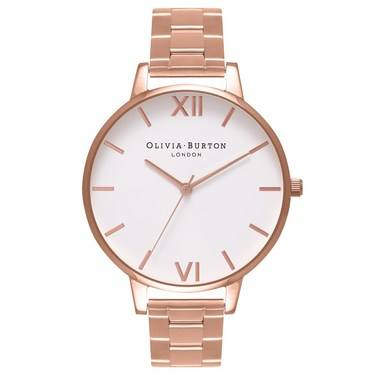 Olivia Burton Big Dial Rose Gold Bracelet Watch  - Click to view larger image