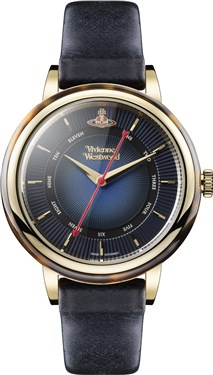 Vivienne Westwood Navy & Gold Portobello Watch  - Click to view larger image