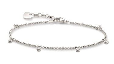 Thomas Sabo CZ Charms Bracelet  - Click to view larger image