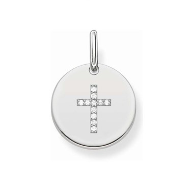 Thomas Sabo Cross Coin Charm  - Click to view larger image