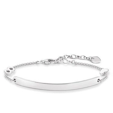Thomas Sabo Love Bridge Silver Heart Infinity Bracelet  - Click to view larger image