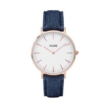 CLUSE La Bohème Rose Gold & Denim Watch