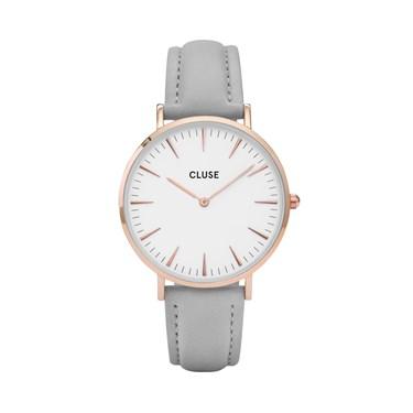 CLUSE La Bohème Rose Gold & Grey Watch  - Click to view larger image