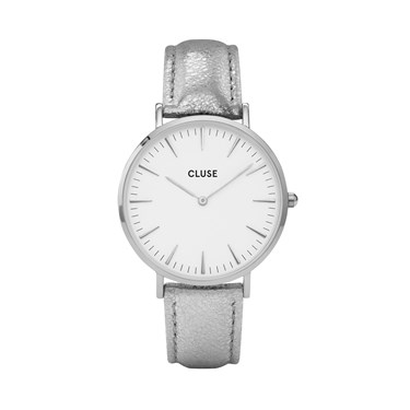 CLUSE La Bohème Silver Metallic Watch  - Click to view larger image