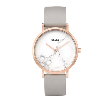 CLUSE La Roche Rose Gold & Grey Watch  - Click to view larger image