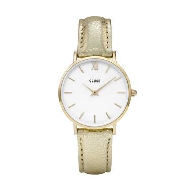 CLUSE Minuit Gold Metallic Watch