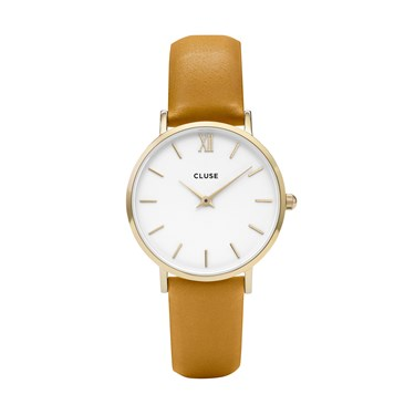 CLUSE Minuit Gold & Mustard Watch