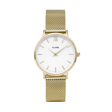 CLUSE Minuit Gold Mesh Watch  - Click to view larger image
