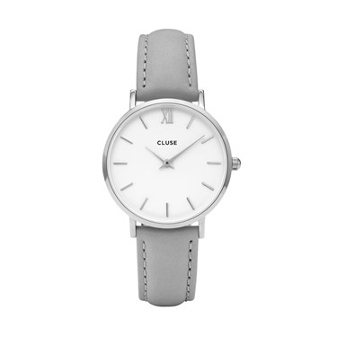 CLUSE Minuit Silver & Grey Watch  - Click to view larger image