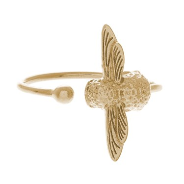 Olivia Burton Gold Bee Ring  - Click to view larger image
