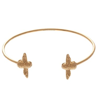 Olivia Burton Gold Bee Open Bangle  - Click to view larger image