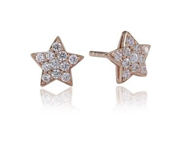 Sif Jakobs Rose Gold Atrani Star Earrings