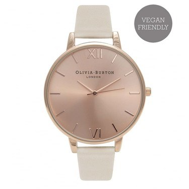 Olivia Burton Vegan Friendly Nude & Rose Gold Watch  - Click to view larger image