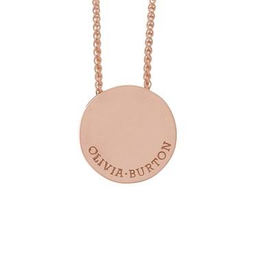Olivia burton rose gold disc necklace argento olivia burton rose gold disc necklace click to view larger image aloadofball Images
