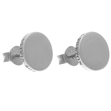 Olivia Burton Silver Disc Earrings  - Click to view larger image