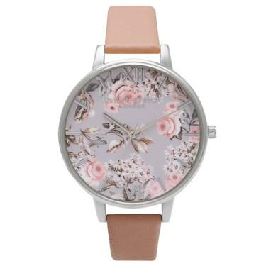 Olivia Burton Enchanted Garden Dusty Pink Watch  - Click to view larger image