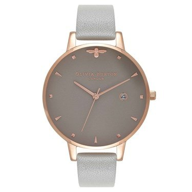 Olivia Burton Queen Bee Grey & Rose Gold Watch  - Click to view larger image