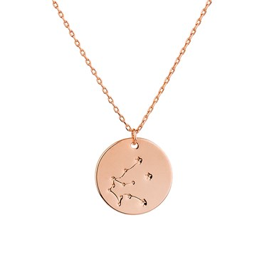 attack products gold aquarius zodiac cute necklace