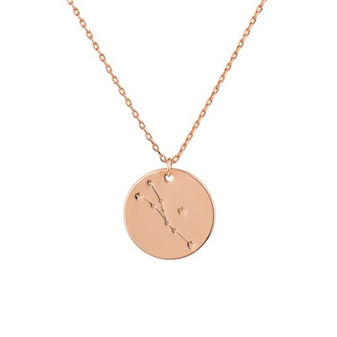 virgo necklace hunter gold product beau jewelry stella hare and constellation