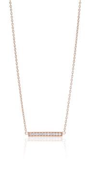 Sif Jakobs Rose Gold Simeri Bar Necklace