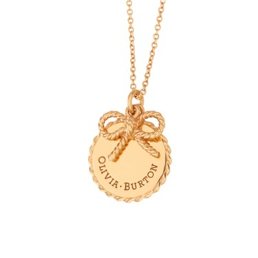 Olivia Burton Gold Bow Necklace  - Click to view larger image