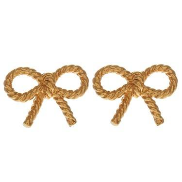 Olivia Burton Gold Bow Earrings  - Click to view larger image
