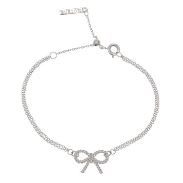 Olivia Burton Silver Bow Bracelet  - Click to view larger image
