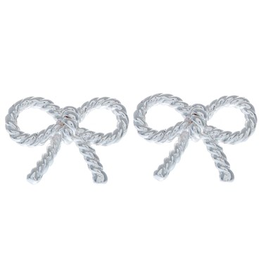Olivia Burton Silver Bow Earrings Click To View Larger Image