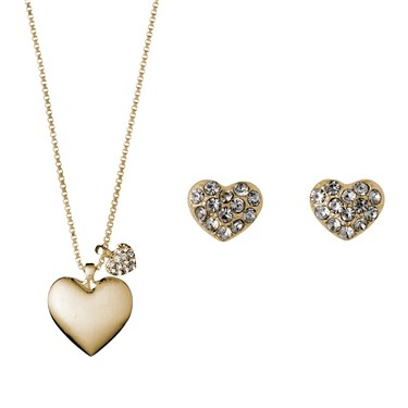 Pilgrim Gold Heart Gift Set  - Click to view larger image