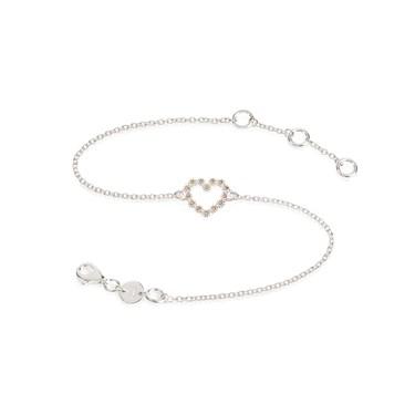 Daisy London Daisy Chain Heart Bracelet