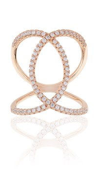 Sif Jakobs Fucino Rose Gold Crossover Ring
